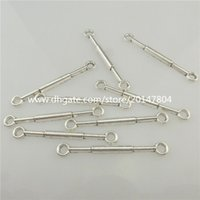 alloy extrusions - 19447 Vintage Silver Alloy mm Extrusion Tool Bar Pendant Connector Craft