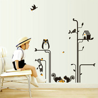 bedroom wardrobe designs - high quality Personality Fashion Vinyl Cartoon Owl Removable Wall Sticker for Home Bedroom Wardrobe