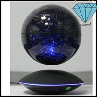 Wholesale 30 dhl magnetic bottom starry globe inch with induction for best desk toy christmas gift