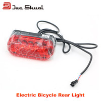 battery frame electric bicycle - Electric Bicycle Rear Light mm Length Wire Connect Controller Rechargeable Battery Frame LED Bike Lamp Bycicle Accessory Part