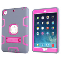 Wholesale For Apple iPad Mini Case TPU Robots Kickstand Shock High Impact Resistant Hybrid Three Layer Armor Defender Protective Case Cover