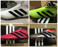 Adidas Ace 16+ purecontrol botas de fútbol zapatos de fútbol Pure Control de fútbol de los hombres cargadores de las grapas baratos 100% originales zapatos de fútbol de calidad