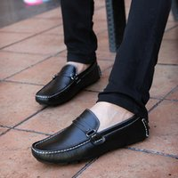 best driving shoe - men shoes new best quality Genuine Leather men flats casual shoes Soft Loafers Comfortable Driving Shoes