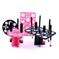 air brushed nails - Fancyteck Tower Tree for Makeup Brushes and Nail Art Brushes Acrylic Collapsible Air Drying Makeup Brushes Organizer Holes