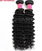 Wholesale Deep Wave Brazilian virgin hair Europe and the United States fashion high quality real hair screens