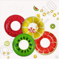Wholesale 32 inch Fruit Style Watermelon Grapefruit Lemon Cartoon Thicken PVC Swimming Ring Floating Rings Inflatable Swiming Laps CCA4502