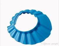 Wholesale New Baby Kid Child Shampoo Bath Shower Cap Hat Wash Hair Shield Adjustable fei