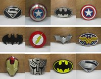 batman belt buckles - 2016 New Super Heroes superhero captain America batman Big Belt Buckle Buckles High Quality