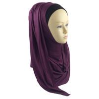 plain jerseys - Plain Jersey Slip Hijab Slip Women Oversized Neck Scarf Viscose Shawl Wrap colors color21 Color28