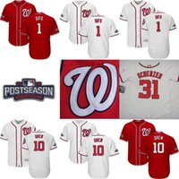 turner - 2016 Nationals Postseason Jersey Men s Wilmer Difo Michael Taylor Trea Turner Danny Espinosa Stephen Drew Stitched Jersey