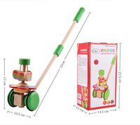 baby walking early - Early Education wooden Toy baby walker push along TOY beginnings learning walking First Step development enlightenment toy birthday gift new