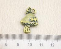 antique caterpillar - 15Pcs mm Antique Bronze Color Caterpillar mushroom Charms Zinc Alloy DIY Handmade Jewelry Pendants