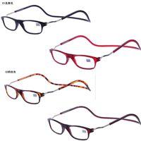 trendy reading glasses pn64  Wholesale Magnetic Reading Glasses Top Adjustable Connect Unisex Men Women  Diopter Glasses Leesbril Vrouwen Magnet eyeglasses