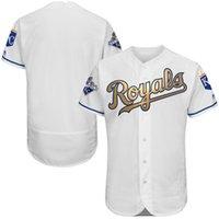 Wholesale Men s Kansas City KC Royals Jersey Perez Majestic White world Series Champions Gold Program Flexbase Player Jersey Base Jerseys Mix Order