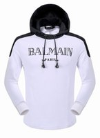 Wholesale Balmain Causal Men s Hoodies Sweatshirt Autumn Winter Pullover Men Sportwear Mens Coat Jogger Running Sport Brand Designer