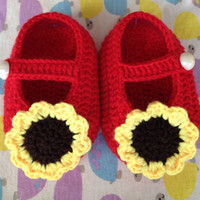 Wholesale Crochet Shoes Baby Prices - Hot Sale Crochet Baby boy Sandals,Summer Handmade Crochet Baby Shoes Sunflower very beautiful Best Price and High Quality Free Shipping