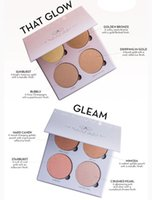 Wholesale 4 Colors Ana stasia Glow Kit Highlighter Powder Makeup Face Blush Powder Blusher Palette Cosmetic Blushes Gleam That Glow Ana stasia Beverly
