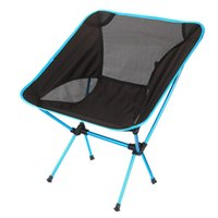 Wholesale Portable Folding Chair Beach Seat Lightweight Seat For Hiking Fishing Picnic Barbecue For Vocation Casual Camping Fishing Azure