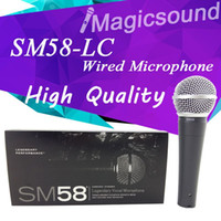 Wholesale New High Quality SM58LC SM LC Wired Dynamic Cardioid Professional Microphone Legendary Vocal Microfone Mike Mic
