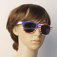 american flag sunglasses - New Arrivals USA US American Flag Sunglasses White Frame Grey Lens Glasses