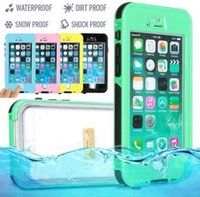 For Apple iPhone Plastic Black Iphone 6 Case Waterproof Case Touch ID Fingerprint identify Underwater 3 meters Colorful Swimming Sport Case Shockproof Dustproof Case