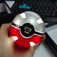 Wholesale 2016 the HOT Newest design Pokeball go plus related battery moblie phone charger power bank mah
