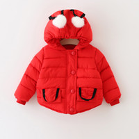 Wholesale infant baby winter coat baby boy hooded coat children winter cotton padded jacket baby christmas hallowman outwear