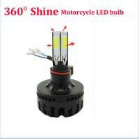 Wholesale 24W LM COB H4 H6 BA20D Hi Lo LED Motorcycle Headlight Bulb Lamp Motor Light