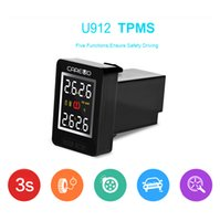 Wholesale U912E TPMS button style Wireless tire pressure alarm with External sensor monitoring tpms system For Toyota Mazda Honda Nissan