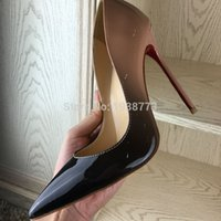 achat en gros de pompes femmes wedge chaussures-Brand 2016 Femmes Chaussures Talons Chaussures De Luxe Designer Chaussures En Cuir Mariage Femme 12cm Pompes Femmes