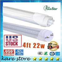 Wholesale HI Q US stock T8 Led Tube Lights G13 R17D ft ture W w mm super Bright Led bulbs Tubes White Led Fluorescent m Light AC85 V