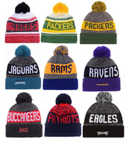 Wholesale 2016 New Beanies American Football team Sports beanie for men Knitted winter Hats drop shippping Snapbacks Hats album offered B14