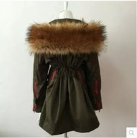 Wholesale Soperwillton New Winter Coats Women Jackets Real Large Raccoon Fur Collar Thick Ladies Down Parkas army green A050