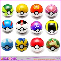 Wholesale Poke Ball cm ABS Anime Action Figures PokeBall Toys Super Master Pocket Monsters Ball Toy