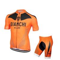 bianchi racing bikes - 2016 Bianchi Orange Cycling Jerseys Short Sleeves MTB Road Racing Ropa Ciclismo Quick Dry Compressed Bike Wear XS XL