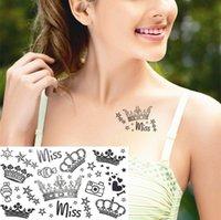 adult wall stickers - 2016 Miss Crown Temporary Tattoo Body Art Flash Tattoo Sticker cm Waterproof Adult Sex Products Tatoo Home Decor Wall Sticker