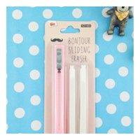Wholesale Grip Retractable Click Eraser Bundle with Pack Refill Penstyle Eraser Pink
