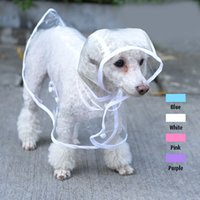 Wholesale Fashion Pet Dog Rain Coat Jacket Clothes Dogs Waterproof Cloak Puppy Raincoats Rainsuit PVC Transparent Colors