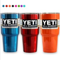 Wholesale Yeti oz Coolers Cup Powder Coated YETI Rambler Tumbler Travel Vehicle Beer Mug Bilayer Vacuum Insulated Cups Multi Color