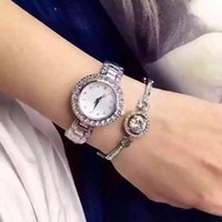 auto accessories pink - A634 Austria Crystal Fashion lady wristwatches luxury women watch silver rose gold beauty womens accessory quartz clock watch with bracelet