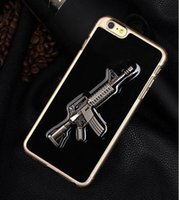 apple pc world - World Famous Gun D Guns Case For iPhone s SE Plus s Plus Stereoscopic Solid PC Hard Back Phone Shell Cover