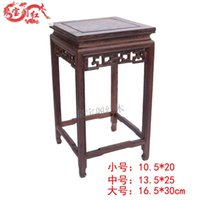 bamboo table base - Special offer Buddha flower vases aquarium base wood carved handicrafts Home Furnishing jewelry wooden square table