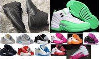 big blue carbon - 20 color new retro XII GS Dynamic Pink women and big boy kid basketball shoes VIVID Pink Valentine grade school True Carbon sneakers