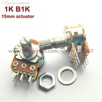 Wholesale Duplex Potentiometer stereo K B1K mm actuator length WH148 side adjustment