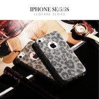 best pc protection - Phone Cases For Iphone Plus Plus SE S Environmental Protection TPU HD Leopard Sparkle Frosted PC Best Quality Hot Sale Product