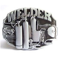 western belt buckles - Disom Buckles Hot Sale Welder Belt Buckle Brand Western Belt Buckle With Pewter Finish Suitable For cm Width Belt Drop shipping