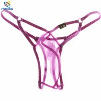 Cheap Wholesale-2016 New Men Underwear Thongs Male Fashion Super Sexy Sheer Mens Thongs And G Strings Gay Mens Thongs Underpants Jockstrap Gay