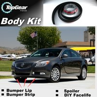 Wholesale Bumper Lip Lips Front Skirt Deflector Spoiler For Car Tuning The Stig Recommend Body Kit Strip For Buick Regal
