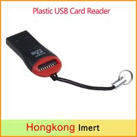 Wholesale High Speed Mini Micro SD T Flash TF M2 USB Memory Hit Cheap Card Reader Plastic USB Card Reader