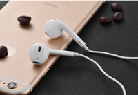 Wholesale AAAAA quality Headphone Ear buds iPhone6 G s G Earphone White Headset mm Stereo Handsfree with Remote Mic Earphones with retail box